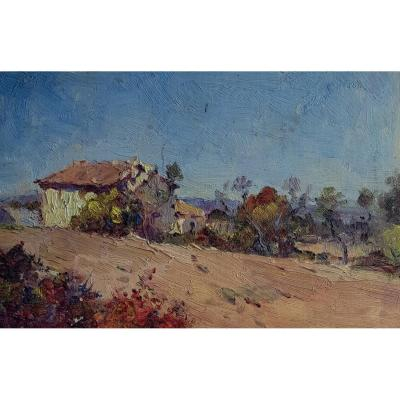 French Of Italian School Of The Twentieth Century, Provençal Landscape