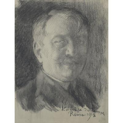 Albert Besnard (1849-1934), Portrait de Jean Carrère (1865-1932)