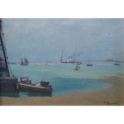 Paul Mascart (1874-1958), Marine Grise, Cherbourg