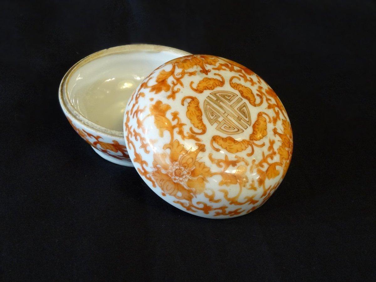 Boîte En Porcelaine Oblongue Pour Lettré. XIXe Siècle -photo-1