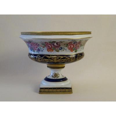 Vase Dans Le Gout De Sèvres De Forme Ovale, XIXe