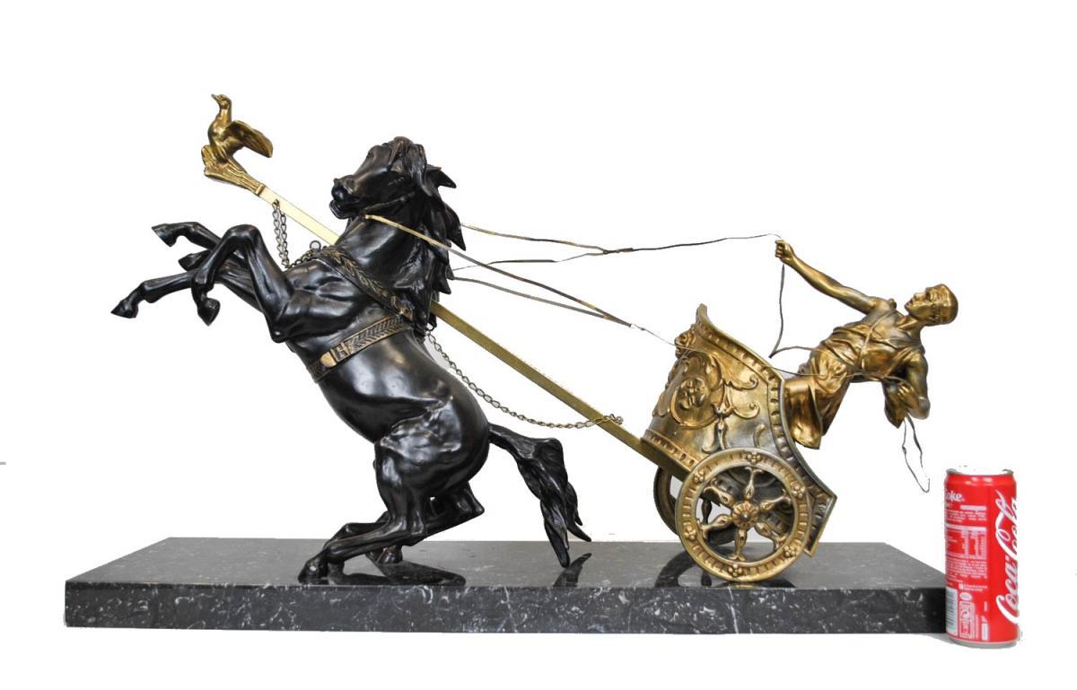 Char Roman, Domenech Pfeffer, Sculpture End Of The XIXth Century