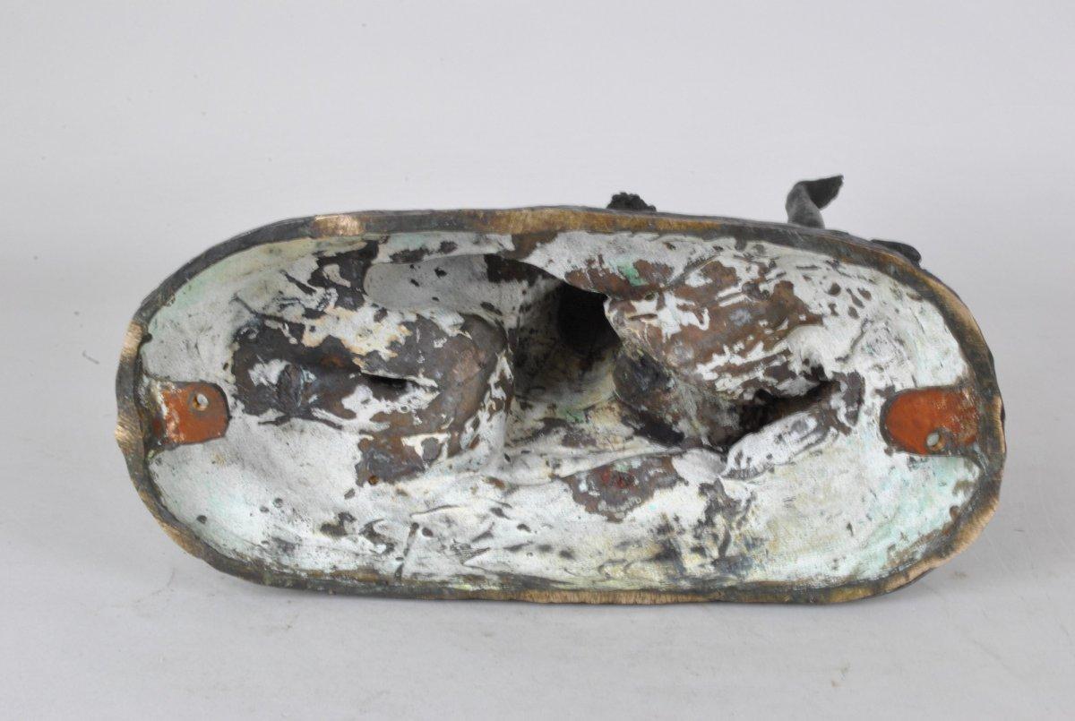 E l'Hoest, Tireuse à l'Arc, Bronze Orientaliste Signé, XIXème Siècle-photo-6