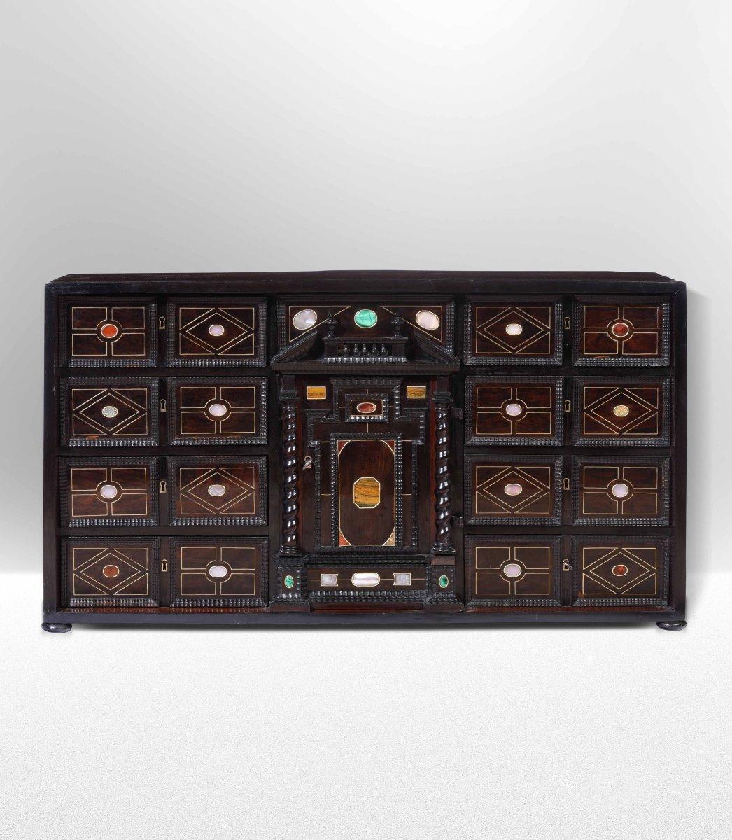 Cabinet En Palissandre Et Pierres Dures, Toscane, XVII ème Siècle