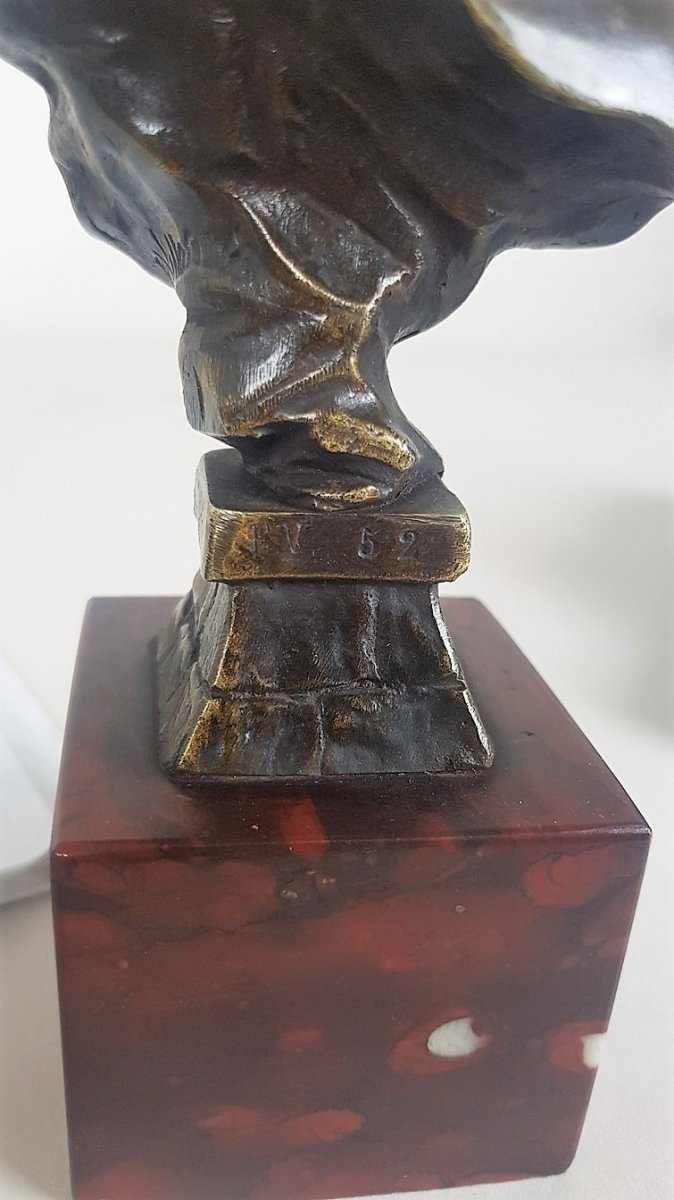 E Villanis, Javotte, Bronze Signed And Numbered, 19th Century