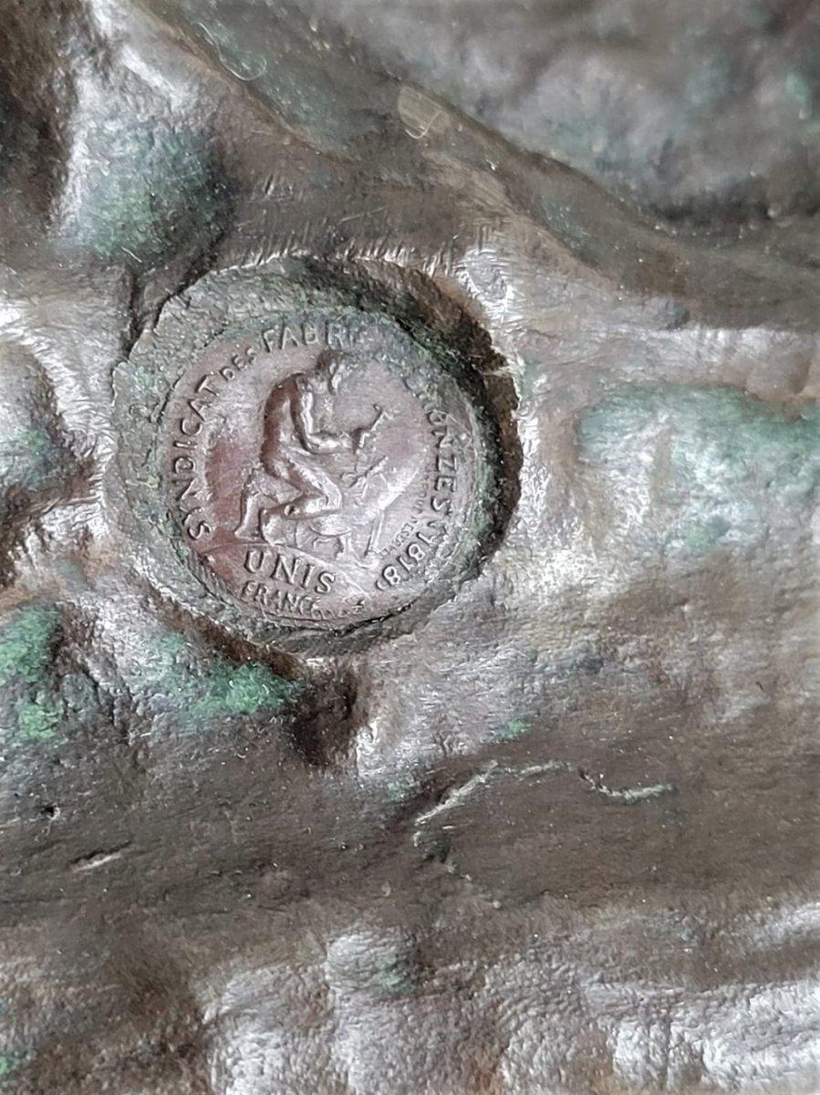 Drouot, Grand Bronze Orientaliste Femme à La Chèvre, Fin XIXème Siècle-photo-1
