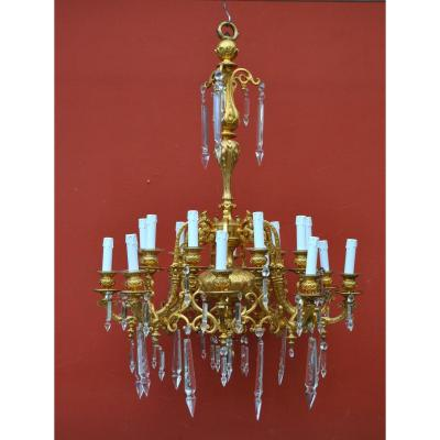 "Chandelier In The Style ""persian"", Baccarat Crystals"