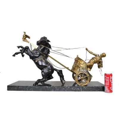 Char Romain, Domenech Pfeffer,sculpture Fin XIXème