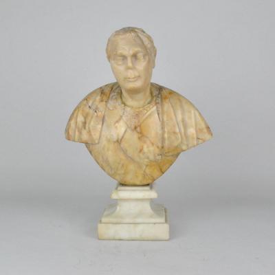 Buste En Marbre d'Un Empereur Romain, XVIIème Siècle
