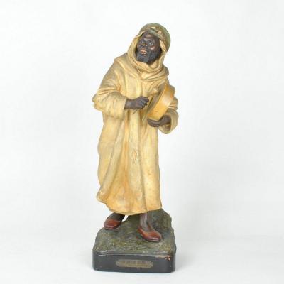 The Guluche, The Arabian Singer, Terracotta Orientalist, Early 20th Century