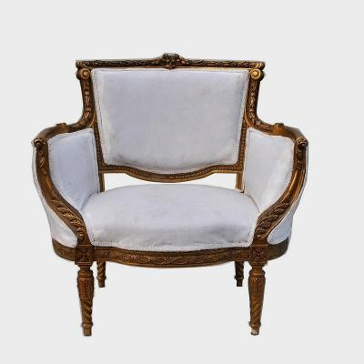Marquise In Guilt Wood, Louis XVI Style, 20th Century