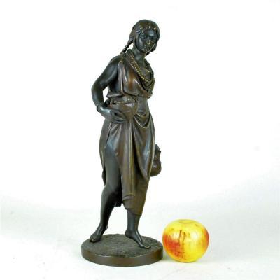 C Cumberworth, Femme De Domingue, Bronze Signé, 19ème Siècle