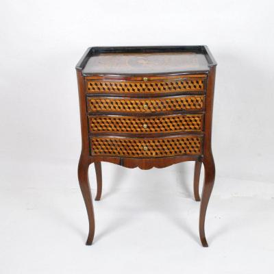 Writing Cabinet In Marquetry, Eighteenth Century