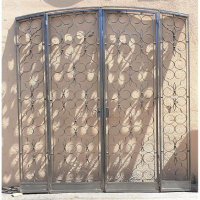Charles Piguet, Wrought Iron Interior Double Door, Early 20th Century