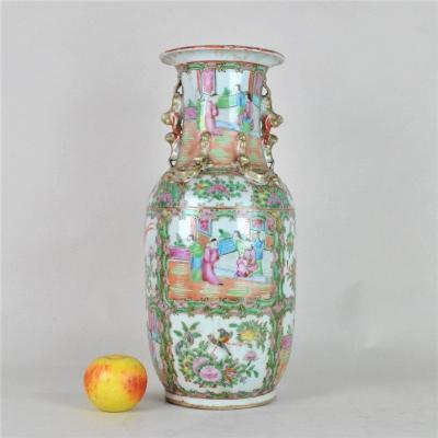 Vase Canton En Porcelaine, Fin XIXème Début XXème Sièckle