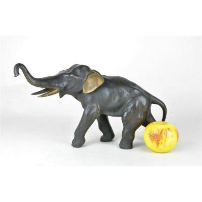 Elephant En Bronze, Meiji, Japon, XIXème Siècle