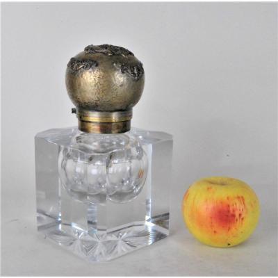 Encrier En Cristal Et Bronze, Baccarat?, XIXème Siècle