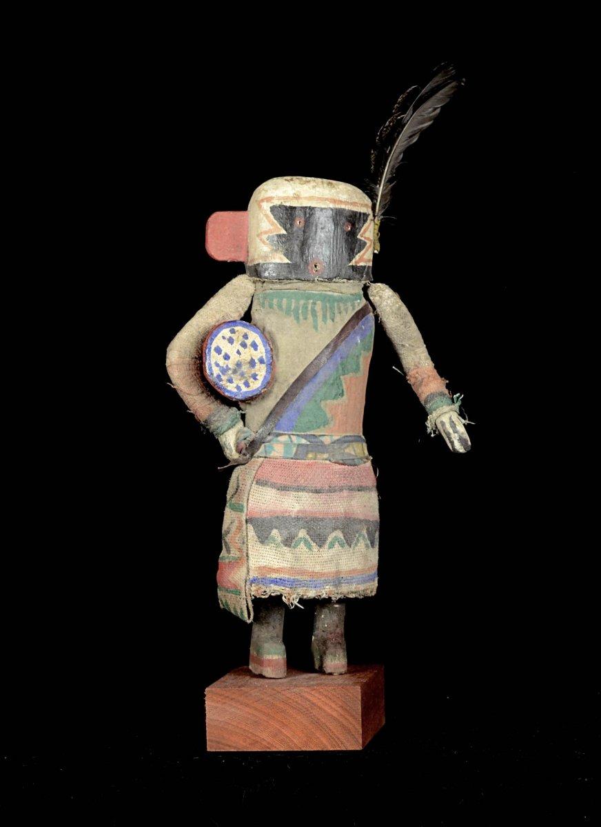Poupée Kachina Au Tambour - Hopi - Arizona - Usa