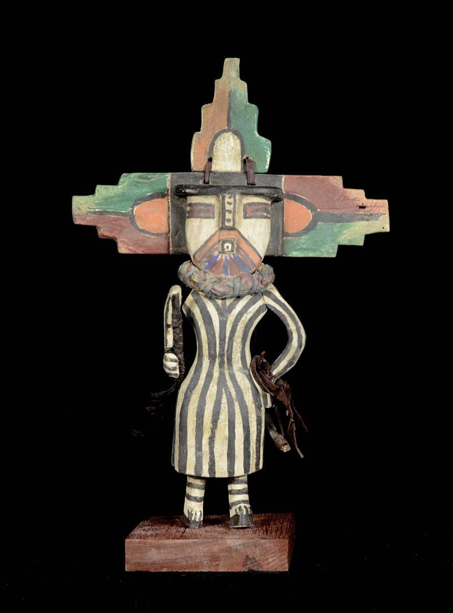 Kashina Des Indiens Hopi Avec Un Grand Masque Pliable - Arizona - Usa
