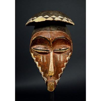 Ancien Masque Cubiste Pende Du Kasai - R.d.c.