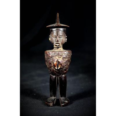 Statue Téké Mbuti Avec Charge Bonga - R.d.c.