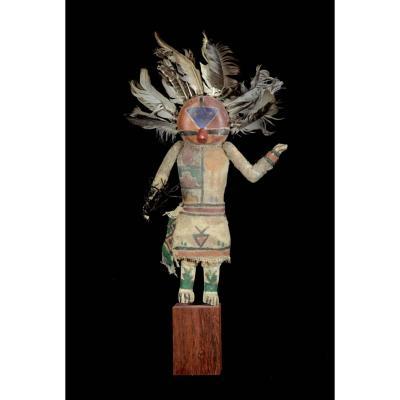 Kashina Of Hopi Indians With A Feathered Helmet - Arizona - Usa