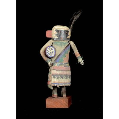 Kachina Doll With A Drum - Hopi - Arizona - Usa