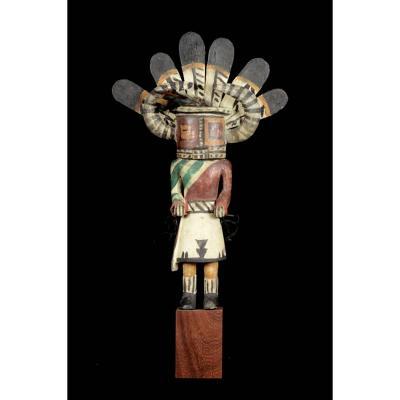 Hopi Indian Horned Kashina - Arizona - Usa