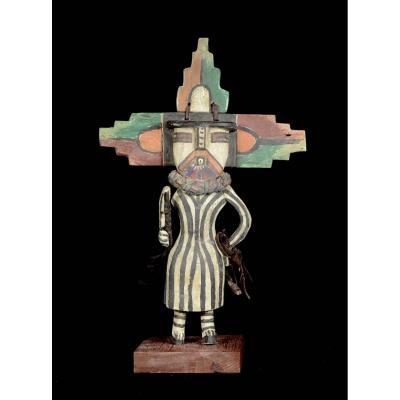 Kashina Of Hopi Indians With A Large Foldable Mask - Arizona - Usa