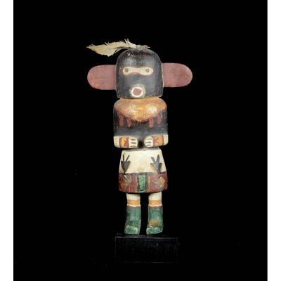 Kashina Of The Hopi Indians In The Black Mask - Arizona - Usa