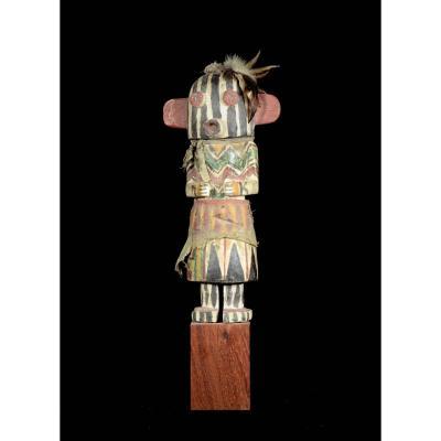 Stripped Face Hopi Indian Kashina - Arizona - Usa