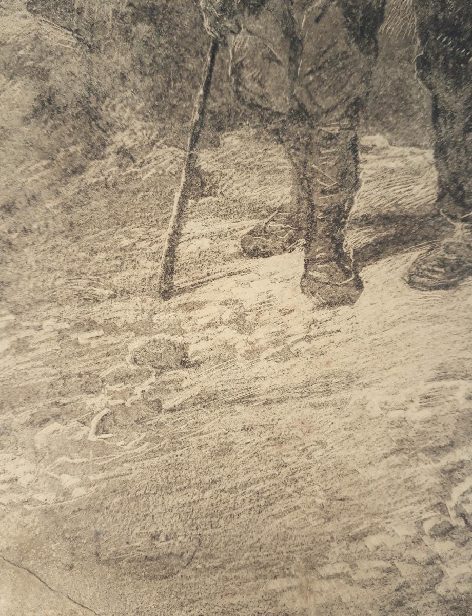 Jules LAURENS (Attribué à) - Les enfants dans la montagne-photo-4