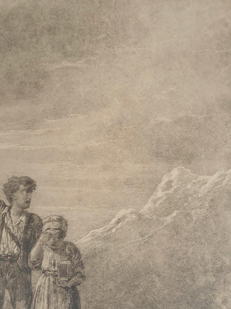 Jules LAURENS (Attribué à) - Les enfants dans la montagne-photo-1