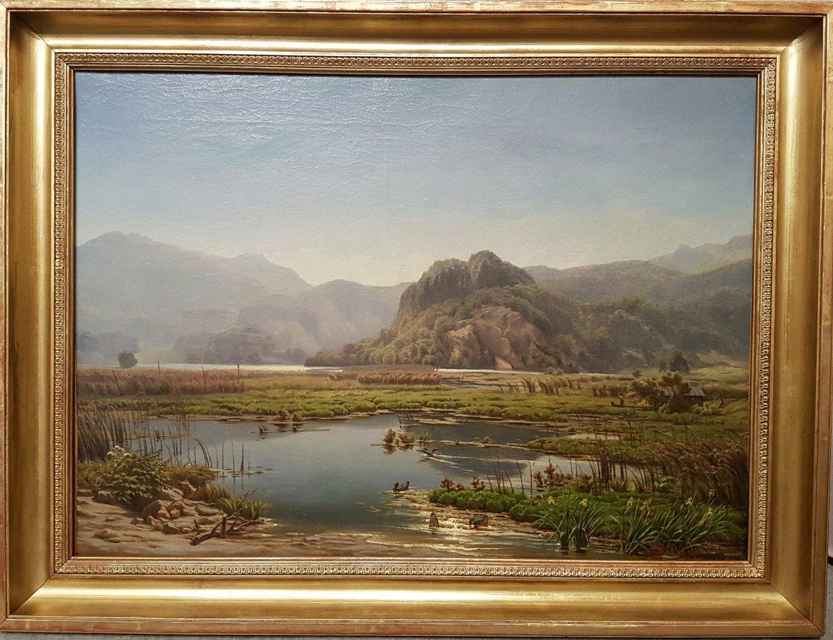 SCHIRMER August Wilhem Ferdinand  (Attribué à) - Paysage suisse