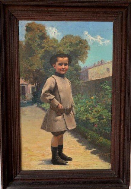 Alfred PLAUZEAU - Portrait d'enfant