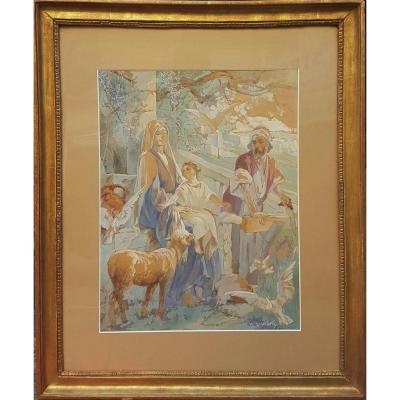 Victor René Livache - The Holy Family