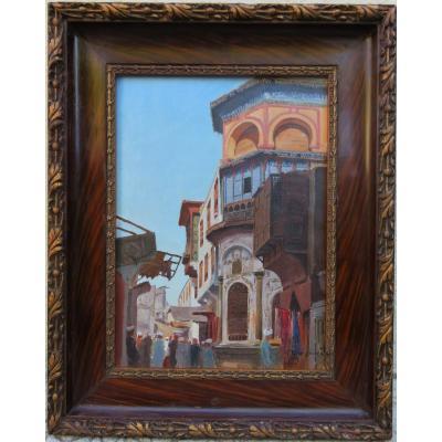 Gustave BOURGAIN - Vue d'une rue du Caire dans les années 1880