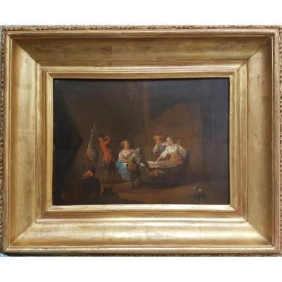 Ecole nordique du XVIIIe siècle - Scène de taverne