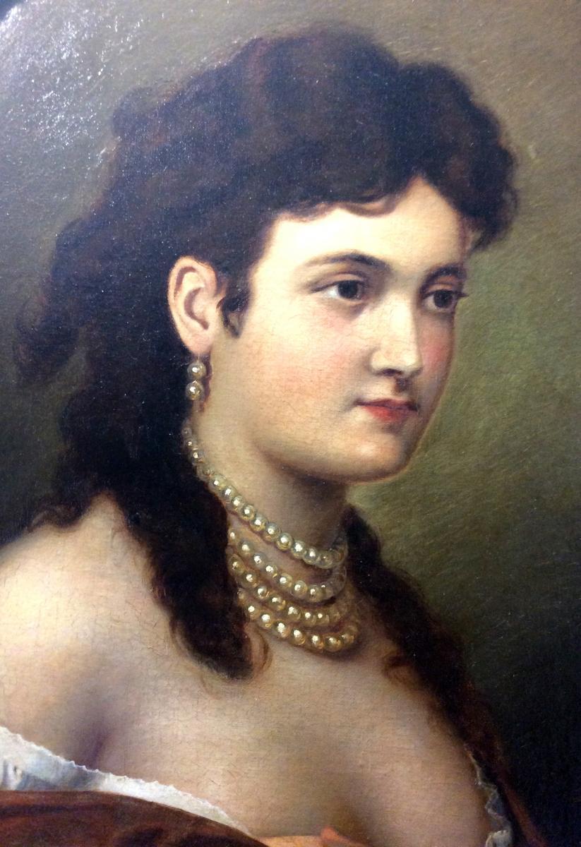 Portrait De Dame de la Haute Société - Aslanovich Bakisch -