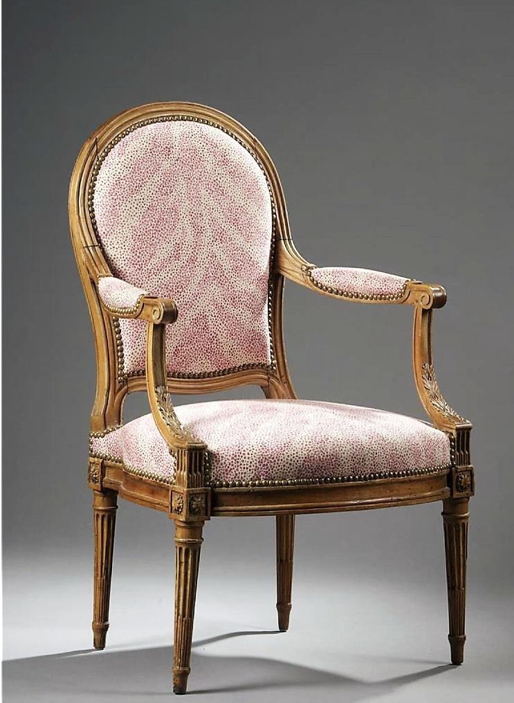 Estampillé Demay, Fauteuil à Dossier Plat - Epoque Louis XVI