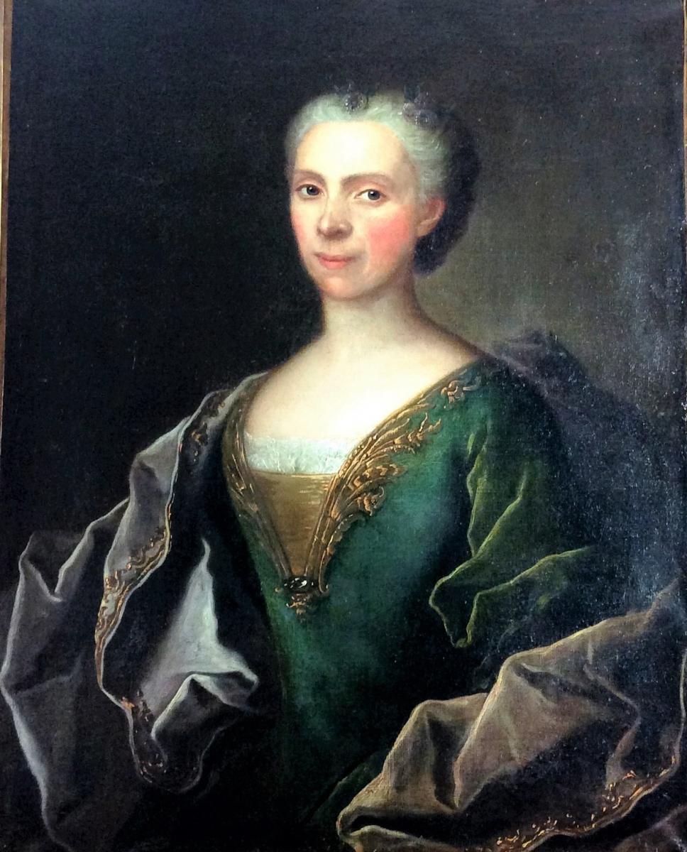 Seul tableau connu d'Eloy FONTAINE, collaborateur de Hyacinthe RIGAUD