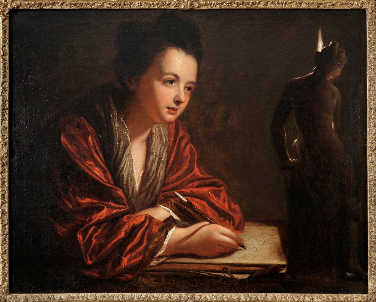 Huile Sur Toile - Jean Baptiste SANTERRE - Fin 17ème siècle