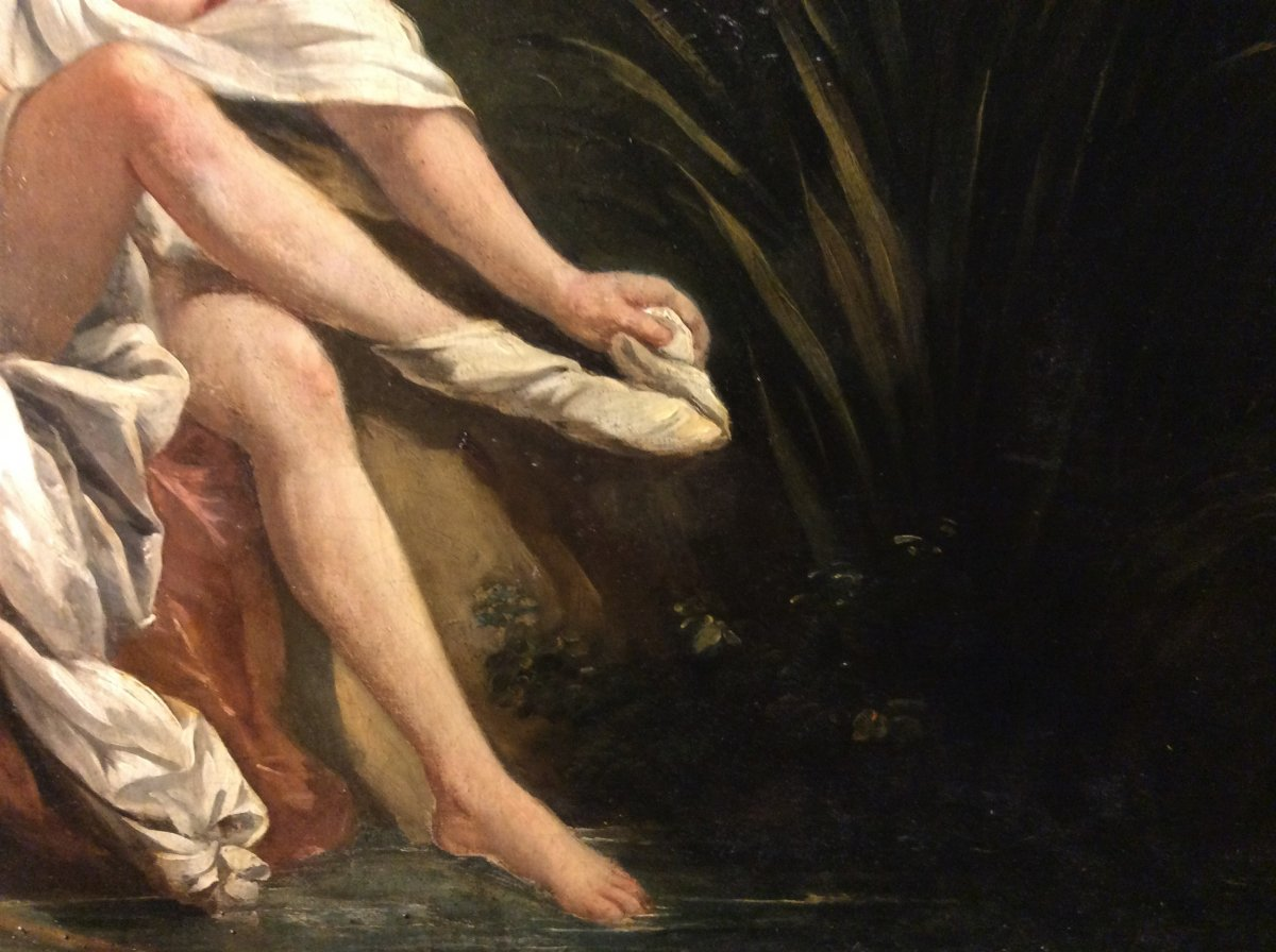 D'après François BOUCHER - Huile sur toile-photo-1