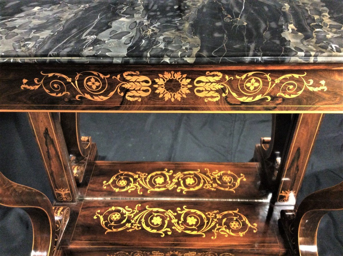 Stamped Jacob - Beautiful And Rare Console In Rosewood - Charles X Period-photo-4