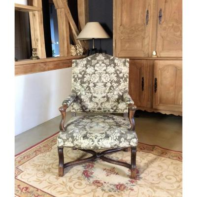 Armchair In Natural Wood, Regency Period