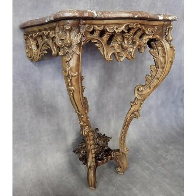 Console Wood Molded And Carved - Louis XV