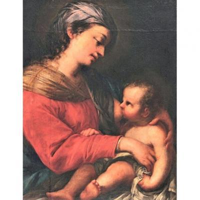 Nicolo Pomarancio, Dit Il Pomarancio - Vierge Du Lait - 16ème Siècle