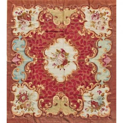 Aubusson Rug - Napoleon III Period Around 1870 - 1875