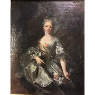 Jacob Van Schupp (suiveur) - Femme En Flore - Vers 1730