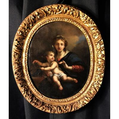 Nicolas Loir - Vierge à l'Enfant - Ecole Du XVIIème Siècle